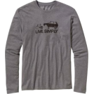 Patagonia Long sleeves t-shirts -  Patagonia Long Sleeve Live Simply Spare T-Shirt - Men's Gravel Heather