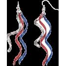 lastchance  Earrings -  Patriotic Jewelry