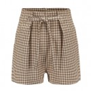 FECLOTHING Shorts -  Plaid high waist strap shorts casual pan