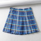 FECLOTHING Skirts -  Plaid pleated skirt skirt