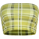 FECLOTHING Shirts -  Plaid strapless tube top breathable and