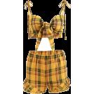 FECLOTHING Dresses -  Plaid vest wide leg pants suit