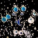 FECLOTHING Earrings -  Planet Moon Star Earrings