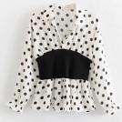 FECLOTHING Shirts -  Polka dot fight receiving waist shirt