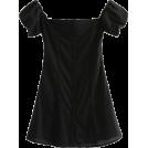 FECLOTHING Dresses -  Puff Sleeve Shoulder Dress