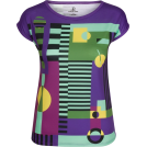 PINaR ERIS T-shirts -  Purple Geometric Print Slim Fit Tee