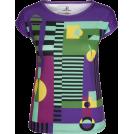 PINaR ERIS Koszulki - krótkie -  Purple Geometric Print Slim Fit Tee