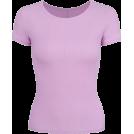 FECLOTHING T-shirts -  Purple Ice Silk Round Neck Short Sleeve