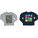Quiksilver Long sleeves t-shirts -  Quiksilver Boys T-Shirt - Style YBYU1AG2 Hthr Gray