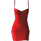 helloexo Vestidos -  RED BODYCON DRESS