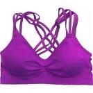 PacificPlex Underwear -  Racerback Strappy Sports Bra, One-Size, Violet
