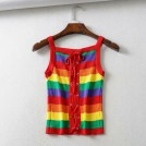 FECLOTHING Shirts -  Rainbow Slim Tank Top