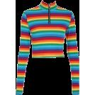 FECLOTHING Long sleeves shirts -  Rainbow Zip Long Sleeve T-Shirt