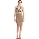 Rampage Dresses -  Rampage Junior's Ruffle Animal Print 2Fer Dress Tan