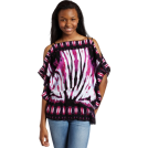 Rampage Top -  Rampage Juniors Dolman Top with Cold Shoulder Bright purple