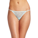 Rampage Thongs -  Rampage Women's Lace Thong Light Blue