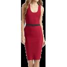 My Lulu Closet Dresses -  Red Sleeveless Bandage W/Belt