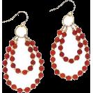 Bev Martin Orecchine -  Red Hoop Earrings
