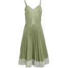 sandra  Vestiti -  RedValentino green pleated dress