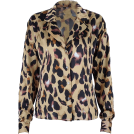 FECLOTHING Long sleeves shirts -  Retro Shirt Women's Leopard Print Long S