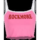 FECLOTHING Shirts -  Retro cute pink mini halter top