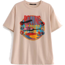 FECLOTHING T-shirts -  Retro front and rear printed letter shor