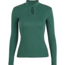 FECLOTHING Pullovers -  Retro small turtleneck buttoned long-sle