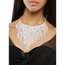Rainbow Brincos -  Rhinestone Collar Necklace with Stud Earrings