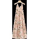 ARTbyJWP Obleke -  Romwe Floral Print Cross Back Dress