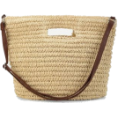 ARTbyJWP Torbice -  Romwe Straw Shoulder Bag With Handl