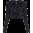 Mees Malanaphy Long sleeves shirts -  Ruched sleeve loop top