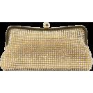 Scarleton Clutch bags -  Scarleton Elegant Crystal Clutch H3008 Gold