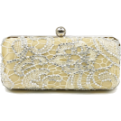 Scarleton Clutch bags -  Scarleton Lace Minaudiere With Crystals H3023 Gold