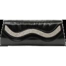 Scarleton Clutch bags -  Scarleton Metallic Clutch With Crystals H3015 Black