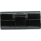 Scarleton Clutch bags -  Scarleton Metallic Flap Clutch H3063 Black