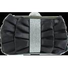Scarleton Clutch bags -  Scarleton Satin Clutch With Crystals H3021 - Blue Black