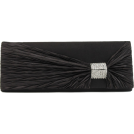 Scarleton Clutch bags -  Scarleton Satin Flap Clutch With Crystals H3020 Black