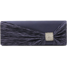 Scarleton Clutch bags -  Scarleton Satin Flap Clutch With Crystals H3020 Blue
