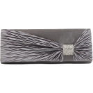 Scarleton Clutch bags -  Scarleton Satin Flap Clutch With Crystals H3020 Grey