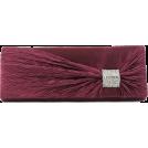 Scarleton Clutch bags -  Scarleton Satin Flap Clutch With Crystals H3020 Purple