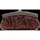 Scarleton Clutch bags -  Scarleton Satin Soft Frame Clutch H3006 Brown