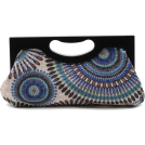 Scarleton Clutch bags -  Scarleton Wood Framed Embroidered Clutch H3001 Blue
