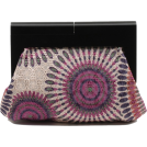 Scarleton Clutch bags -  Scarleton Wood Framed Embroidered Clutch H3002 Purple