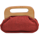 Scarleton Clutch bags -  Scarleton Wood Framed Linen Clutch H3036 Red