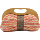 Scarleton Clutch bags -  Scarleton Wood Framed Straw Clutch H3004 Pink