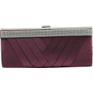 Scarleton Clutch bags -  Scarleton Woven Satin Clutch with Crystals H3060 Purple