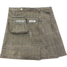 FECLOTHING Skirts -  Scottish plaid skirt vintage irregular h