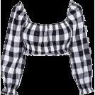 FECLOTHING Shirts -  Seven Lantern Sleeve Navel Tabby T-Shirt