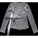 FECLOTHING Long sleeves shirts -  Sexy Cutout V-neck Strap Slim Long Sleev