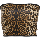 FECLOTHING Tunike -  Sexy leopard printed chest wrap